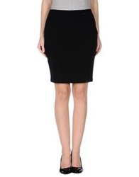 Amy Gee Knee Length Skirts Black