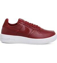 Nike Air Force 1 Ultra Force Leather Trainers Team Red White