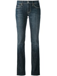 7 For All Mankind Classic Skinny Jeans Women Cotton Spandex Elastane 25 Blue