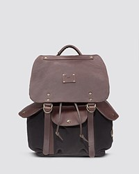 Will Leather Goods Lennon Backpack Black Brown