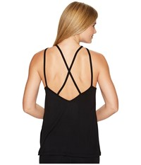 Beyond Yoga Slink Or Swim Dropped X Tank Top Black Women's Sleeveless