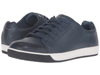Mark Nason Shaver Navy Leather Men's Lace Up Casual Shoes Blue