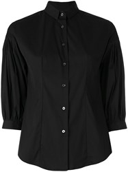 Xacus Cropped Sleeves Shirt Women Cotton Nylon Spandex Elastane 40 Black