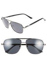 Men's Ted Baker London 58Mm Polarized Navigator Sunglasses Gunmetal