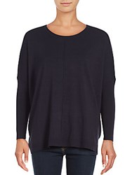 Saks Fifth Avenue Black Boxy Dolman Ribbed Sweater Black