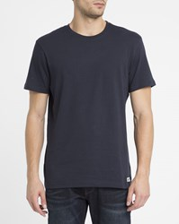 Element Navy Crew Round Neck T Shirt Blue