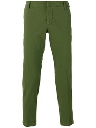 Entre Amis Slim Fit Trousers Green