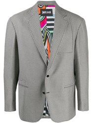 Just Cavalli Houndstooth Pattern Blazer Jacket 60
