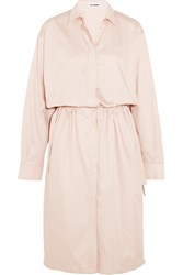Jil Sander Cotton Shirt Dress Pastel Pink