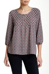 Want And Need 3 4 Length Sleeve Pintuck Blouse Pink