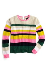 J.Crew Women's Carine Pop Stripe Cashmere Sweater