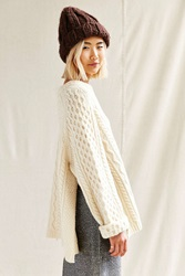 Urban Renewal Remade Side Slit Fisherman Sweater Cream