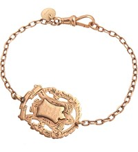 Annina Vogel 9Ct Rose Gold Knowledge Comes But Wisdom Lingers Medallion Antique Bracelet
