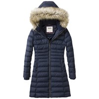 Tommy Hilfiger Denim Hooded Down Filled Coat Navy Blazer