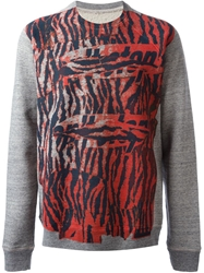 Marc Jacobs Tiger Print Sweatshirt Grey