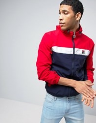 Fila Vintage Hooded Jacket With Panelling Red