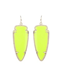 Kendra Scott Skylar Magnesite Pendant Earrings Neon Yellow