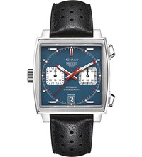 Tag Heuer Caw211p.Fc6356 Monaco Stainless Steel Watch Blue