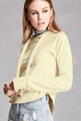 Forever 21 Raw Cut Cropped Hoodie