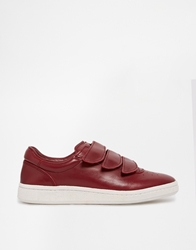 Ymc Leather Strap Trainers Red