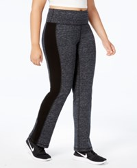 Ideology Plus Size Space Dyed Yoga Pants Created For Macy's Noir