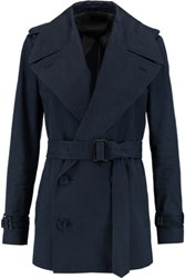 Joseph Townie Belted Cotton Twill Trench Coat Midnight Blue