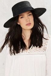 Nasty Gal Stay Afloat Straw Boater Hat