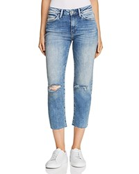 Mavi Jeans Niki Crop Tapered In Light Ripped Vintage
