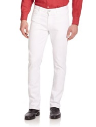 Canali Straight Leg Denim Jeans White