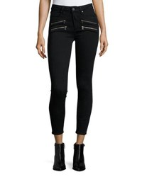 Paige Edgemont Ultra Skinny High Rise Ankle Jeans Black Shadow