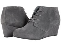 Vionic Elevated Becca Wedge Lace Up Grey Women's Wedge Shoes Gray