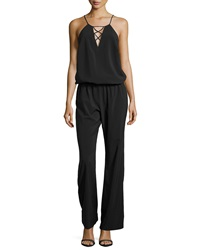 Single Dress Single Crisscross Front Jumpsuit Black