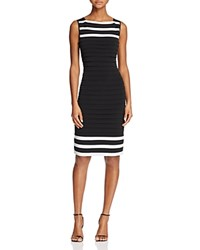 Adrianna Papell Color Block Banded Dress Black Ivory