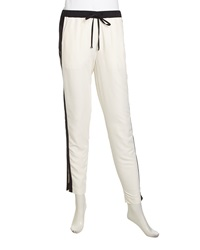 Stella And Jamie Two Tone Jogger Pants Gardenia Black