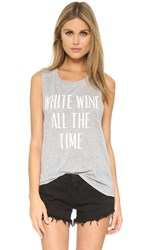 Private Party White Wine All The Time Tank Grey