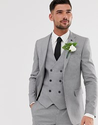 Burton Menswear Suit Jacket In Black Puppytooth