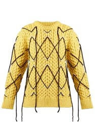 Calvin Klein 205W39nyc Cable Knit Wool And Mohair Blend Sweater Yellow