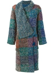 Missoni Vintage Knitted Check Coat Multicolour