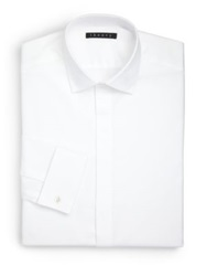 Theory Slim Fit Dover Tux Dress Shirt White