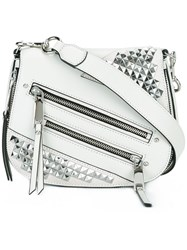 Marc Jacobs Studded Small Nomad Crossbody Bag Grey