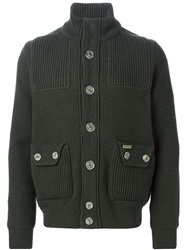 Bark Buttoned Cardigan Green