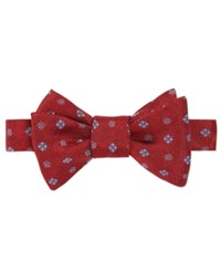 Brooks Brothers Men's Medallion Print To Tie Bow Tie Red