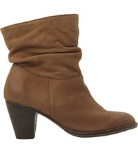 Steve Madden Ruched Calf Boots Tan Leather