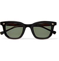 Max Pittion Bigsby D Frame Acetate Sunglasses Dark Brown