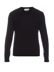 Valentino Studded Side Cashmere Sweater Navy