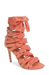 Women's By Zendaya Sabina Lace Up Sandal Peach