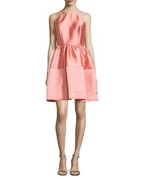 Erin Fetherston Sleeveless Satin A Line Dress Coral