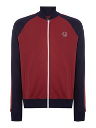 Fred Perry Casual Full Zip Bomber Jacket Maroon