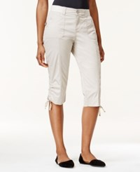 Lee Petite Gabby Cargo Capri Pants Putty