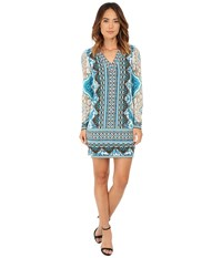 Hale Bob Moroccan Melodies Signature Dress Teal Women's Dress Blue